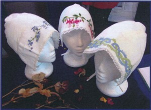 Some of the bonnets on display